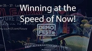 Winning at the speed of now! Trophy from Demo Fest
