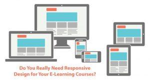 Responsive e-learning design
