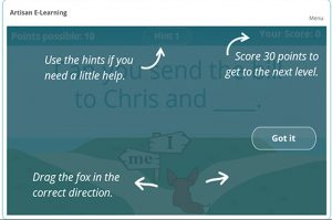 Screenshot from Grammer Game