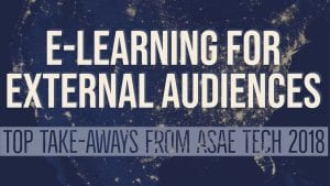 E-learning for external audiences