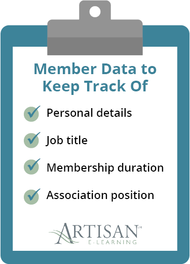 This graphic depicts key types of member data to track.
