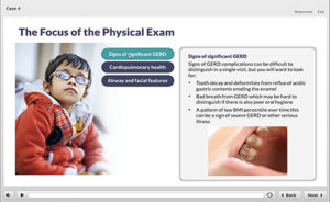 Screenshot 1 -The focus of the physical exam