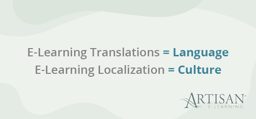 This is the difference between e-learning translations and e-learning localization.