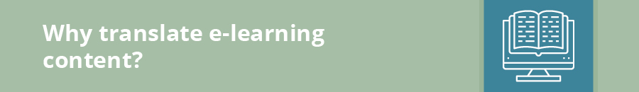This section covers e-learning translations.