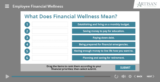 Ideas for A Successful E-Learning Project_Financial Wellness