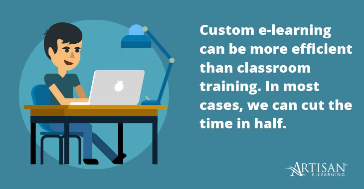 Corporate e-learning can be more time-efficient for busy learners.