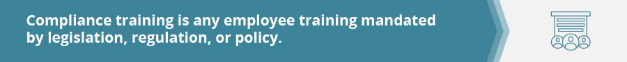 What is compliance training?